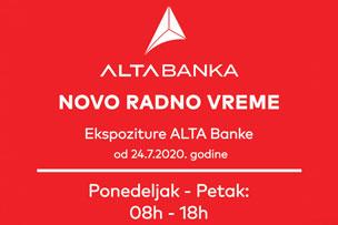 Promenjeno radno vreme ekspoziture na Novom Beogradu