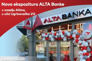 Otvorena nova ekspozitura ALTA Banke na Altini